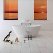 Xonyx akmens masės vonia FLO balta matinė