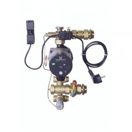 FHM-C7 mazgas, GRUNDFOS Alpha2 15-60 siurblys, apsauga, balansavimas