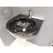 Komplektas Flaminia, pakabinamas tualetas APP (juodas) su dangčiu + praustuvas PASS 50 (juodas)