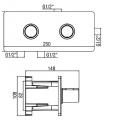 Alpi potinkinis termostatinis maišytuvas NU 55L163