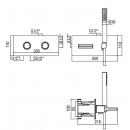 ALPI potinkinis termostatinis maišytuvas NU55L163VD