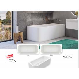 Xonyx akmens masės vonia LEON balta matinė