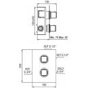Maišytuvas termostatinis dušui Alpi UNA 18 UN57163