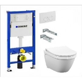 WC komplektas: GEBERIT rėmas su WC VITRA S50