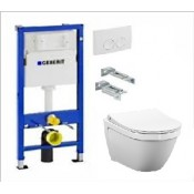 WC komplektas: GEBERIT rėmas su VITRA S50 rim-ex klozetu