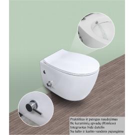 WC pakabinamas su bidė funkcija,bekantis