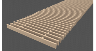 Medinės grotelės 5x18mm