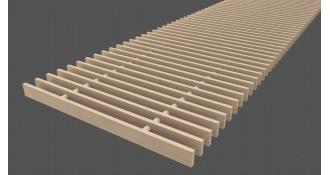 Medinės grotelės 10x18mm